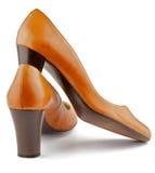κόκκινα παπούτσια πιπεροριζών χρώματος θηλυκά Στοκ εικόνες με δικαίωμα ελεύθερης χρήσης
