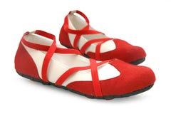 κόκκινα παπούτσια χορού στοκ εικόνες