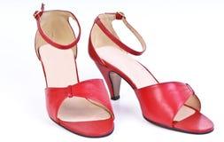 κόκκινα παπούτσια Στοκ Εικόνες