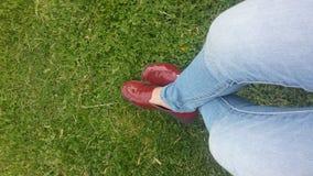 κόκκινα παπούτσια Στοκ φωτογραφίες με δικαίωμα ελεύθερης χρήσης