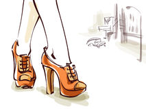 κόκκινα παπούτσια ελεύθερη απεικόνιση δικαιώματος
