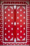 Κόκκινα παράθυρα - αφηρημένο υπόβαθρο Στοκ Εικόνες