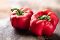 Κόκκινα πιπέρια κουδουνιών ή γλυκά πιπέρια Στοκ φωτογραφία με δικαίωμα ελεύθερης χρήσης