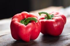 Κόκκινα πιπέρια κουδουνιών ή γλυκά πιπέρια Στοκ Εικόνες