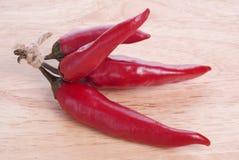 Κόκκινα πιπέρια τσίλι Στοκ φωτογραφία με δικαίωμα ελεύθερης χρήσης