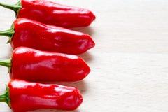 Κόκκινα πιπέρι & x27 τσίλι καψικό annuum& x27  Στοκ εικόνες με δικαίωμα ελεύθερης χρήσης
