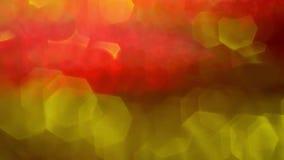 Κόκκινα πορτοκαλιά ρόδινα κίτρινα φω'τα κύκλων bokeh απόθεμα βίντεο