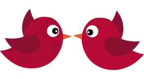 Κόκκινα πουλιά Στοκ Εικόνες