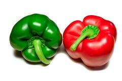Κόκκινα πράσινα γλυκά πιπέρια Στοκ Εικόνα