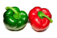 Κόκκινα πράσινα γλυκά πιπέρια Στοκ Εικόνες