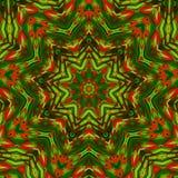 Κόκκινα πράσινα κόκκινα χρώματα καλειδοσκόπιων Στοκ Φωτογραφία