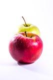 Κόκκινα πράσινα φρέσκα τρόφιμα Delciious φρούτων ζεύγους ζευγαριού μήλων μαζί Στοκ φωτογραφία με δικαίωμα ελεύθερης χρήσης