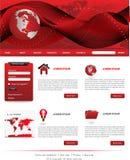 Κόκκινα πρότυπα ιστοχώρου Στοκ Εικόνες