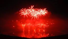 Κόκκινα πυροτεχνήματα Στοκ Φωτογραφία