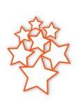 Κόκκινα πλαίσια αστεριών Στοκ εικόνα με δικαίωμα ελεύθερης χρήσης