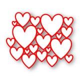 Κόκκινα πλαίσια καρδιών Στοκ φωτογραφία με δικαίωμα ελεύθερης χρήσης