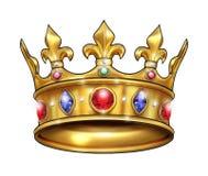κόκκινα ρουμπίνια μαργαριταριών κορωνών χρυσά ελεύθερη απεικόνιση δικαιώματος