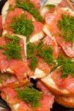 κόκκινα σάντουιτς ψαριών Στοκ εικόνα με δικαίωμα ελεύθερης χρήσης