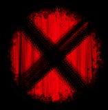 Κόκκινα σημάδια ροδών σημαδιών Στοκ Εικόνα
