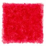 Κόκκινα σύνορα πλαισίων Watercolor κατασκευασμένα τετραγωνικά Στοκ φωτογραφία με δικαίωμα ελεύθερης χρήσης