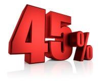 Κόκκινα 45 τοις εκατό Στοκ Εικόνες