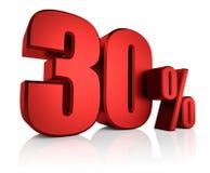 Κόκκινα 30 τοις εκατό Στοκ φωτογραφίες με δικαίωμα ελεύθερης χρήσης