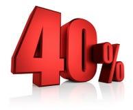 Κόκκινα 40 τοις εκατό Στοκ εικόνα με δικαίωμα ελεύθερης χρήσης