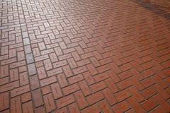Κόκκινα τούβλα πατωμάτων με τα ονόματα χάραξης στο τετράγωνο δικαστηρίων πρωτοπόρων στο Πόρτλαντ Στοκ εικόνες με δικαίωμα ελεύθερης χρήσης