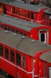 κόκκινα τραίνα Στοκ Εικόνες