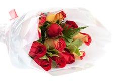 κόκκινα τριαντάφυλλα ανθοδεσμών κίτρινα Στοκ Εικόνες