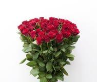 κόκκινα τριαντάφυλλα ανθοδεσμών Στοκ Εικόνα