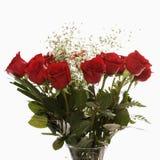 κόκκινα τριαντάφυλλα ανθοδεσμών Στοκ Φωτογραφίες
