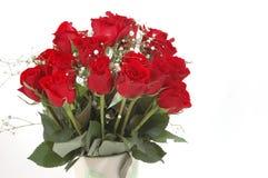 κόκκινα τριαντάφυλλα ανθ& Στοκ φωτογραφίες με δικαίωμα ελεύθερης χρήσης