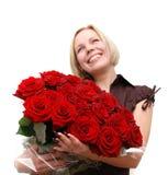 κόκκινα τριαντάφυλλα ανθ& Στοκ φωτογραφία με δικαίωμα ελεύθερης χρήσης
