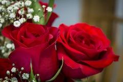 Κόκκινα τριαντάφυλλα σε μια ανθοδέσμη Στοκ Φωτογραφία