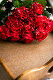 Κόκκινα τριαντάφυλλα για την ημέρα του βαλεντίνου στοκ φωτογραφία με δικαίωμα ελεύθερης χρήσης