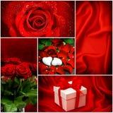 κόκκινα τριαντάφυλλα Καρδιές το δώρο κιβωτίων απομόνωσε το λευκό κόκκινος αυξήθηκε Στοκ εικόνες με δικαίωμα ελεύθερης χρήσης