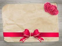 Κόκκινα τόξο και ζεύγος των καρδιών 10 eps Στοκ Εικόνα