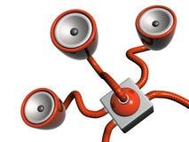 κόκκινα υπο- woofers Στοκ εικόνα με δικαίωμα ελεύθερης χρήσης