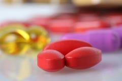 Κόκκινα φάρμακα στοκ φωτογραφία με δικαίωμα ελεύθερης χρήσης