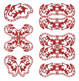 Κόκκινα φίδι και αρπακτικό ζώο Στοκ Εικόνες
