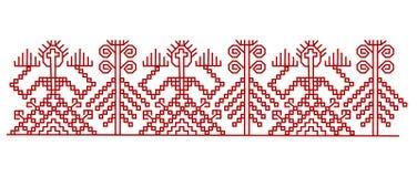 Κόκκινα φινλανδικά στοιχεία σχεδίου διακοσμήσεων Στοκ Εικόνες