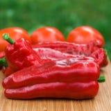 Κόκκινα φρέσκα φρούτα πιπεριών Στοκ εικόνα με δικαίωμα ελεύθερης χρήσης