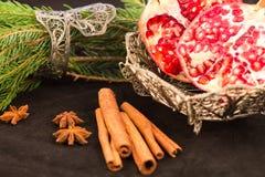 Κόκκινα φρούτα και νέο έτος Στοκ Φωτογραφία