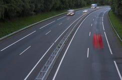 Κόκκινα φω'τα αυτοκινήτων στην εθνική οδό Στοκ φωτογραφία με δικαίωμα ελεύθερης χρήσης
