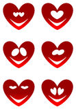 Κόκκινα χαμόγελα αγάπης Στοκ Εικόνες