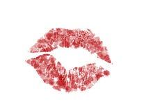 Κόκκινα χείλια καρδιών Στοκ φωτογραφία με δικαίωμα ελεύθερης χρήσης