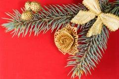 κόκκινα Χριστούγεννα ανασκόπησης Στοκ Φωτογραφία
