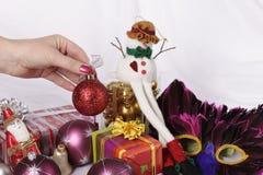 κόκκινα Χριστούγεννα σφαιρών Στοκ Εικόνα