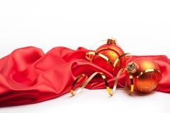 κόκκινα Χριστούγεννα σφα& Στοκ Εικόνες